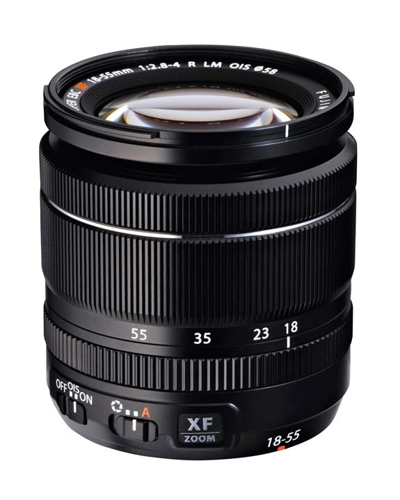 Fujinon XF 18-55mm F2.8-4R LM OIS lens for X series mirrorless cameras.